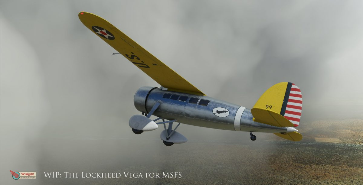 More gorgeous images of Wing42's Lockheed Vega for MSFS