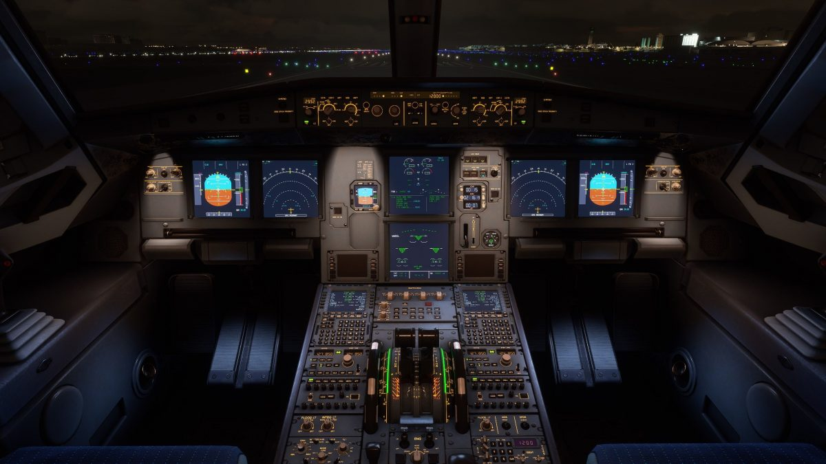 FlyByWire A32NX updated to v0.3.0 with stunning night lighting