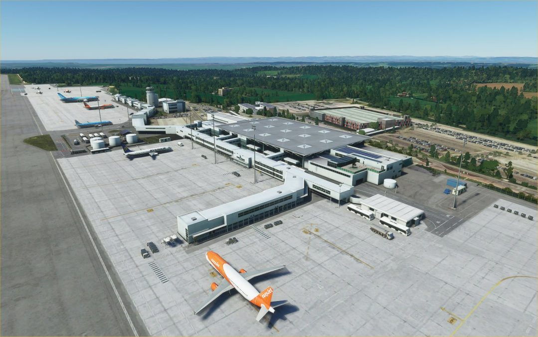 UK2000 scenery releases Bristol airport for MSFS