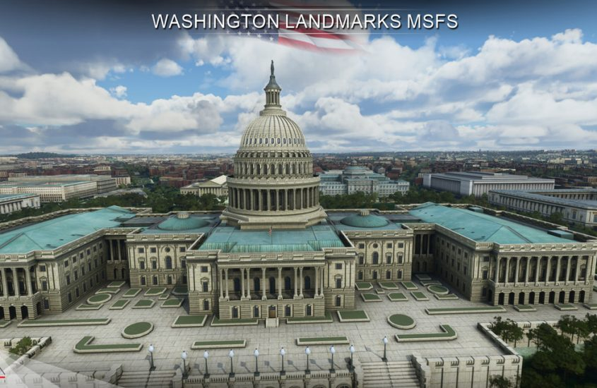 Fix Washington in MSFS with this Landmarks pack
