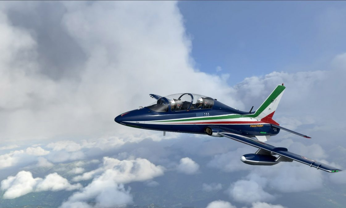 Aermacchi MB-339: a military jet trainer in development for MSFS