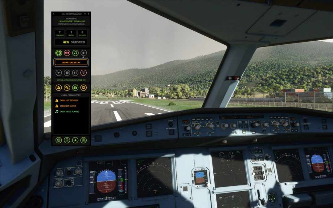 Self-Loading Cargo is a real-time simulation of passengers and cabin crew for MSFS