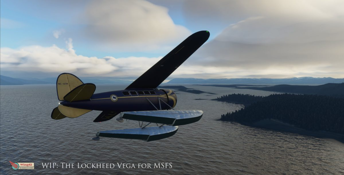 Wing42's Lockheed Vega to be released with floats