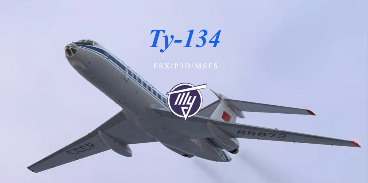 An airliner from the East: Tupolev Tu-134 under development for MSFS