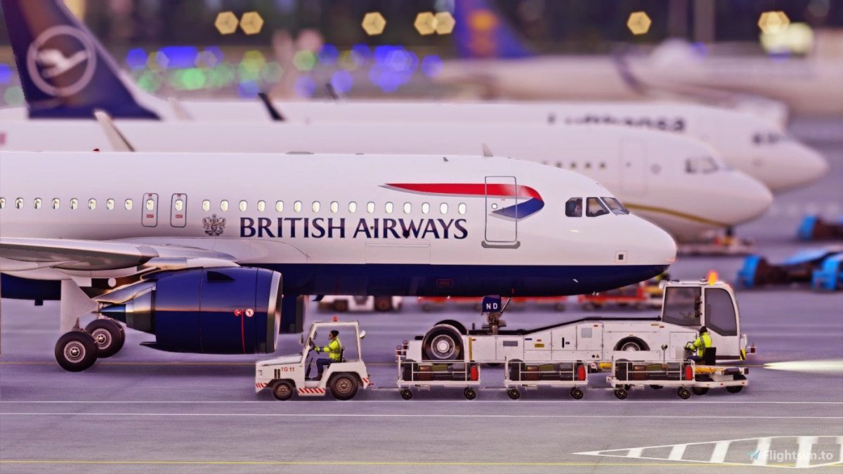 British Airways livery for the A320 in Ultra High Quality
