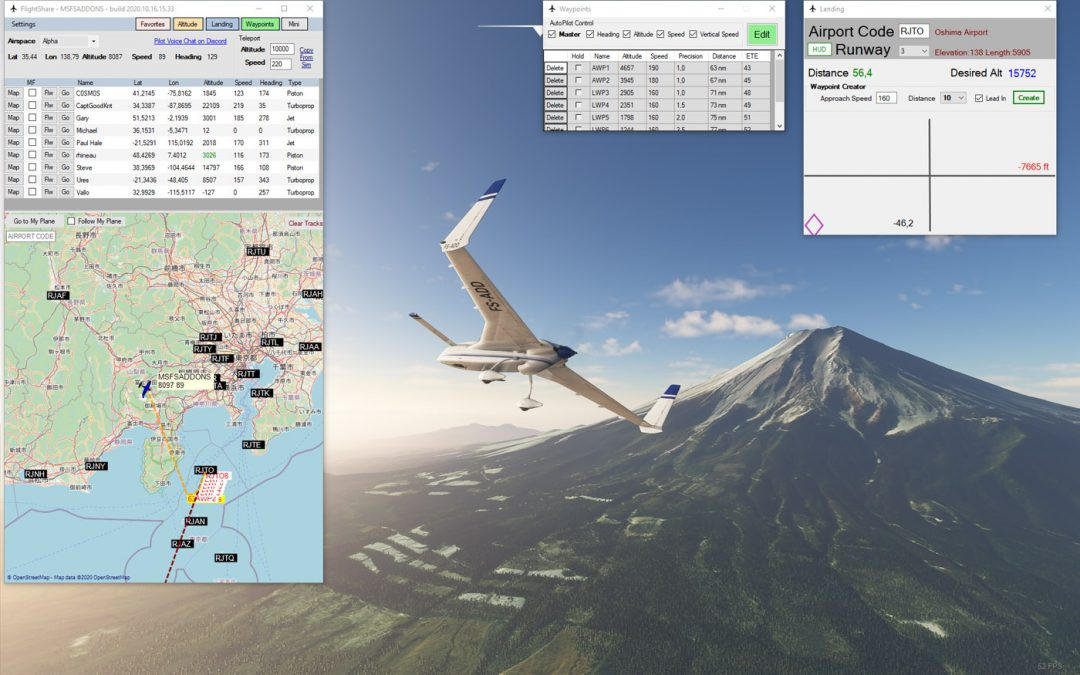 FlightShare – an impressive and free multiplayer app with GPS tracking, instant teleportation and much more