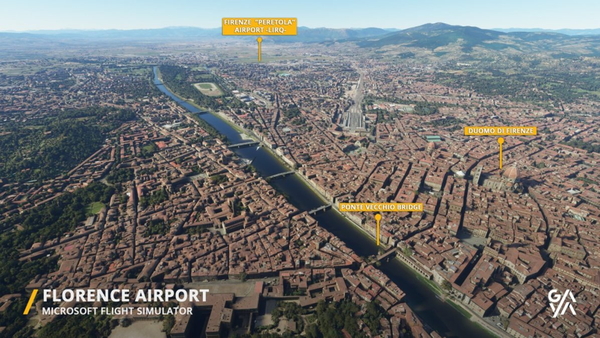 LIRQ Florence Airport released by Gaya Simulations – their best yet!