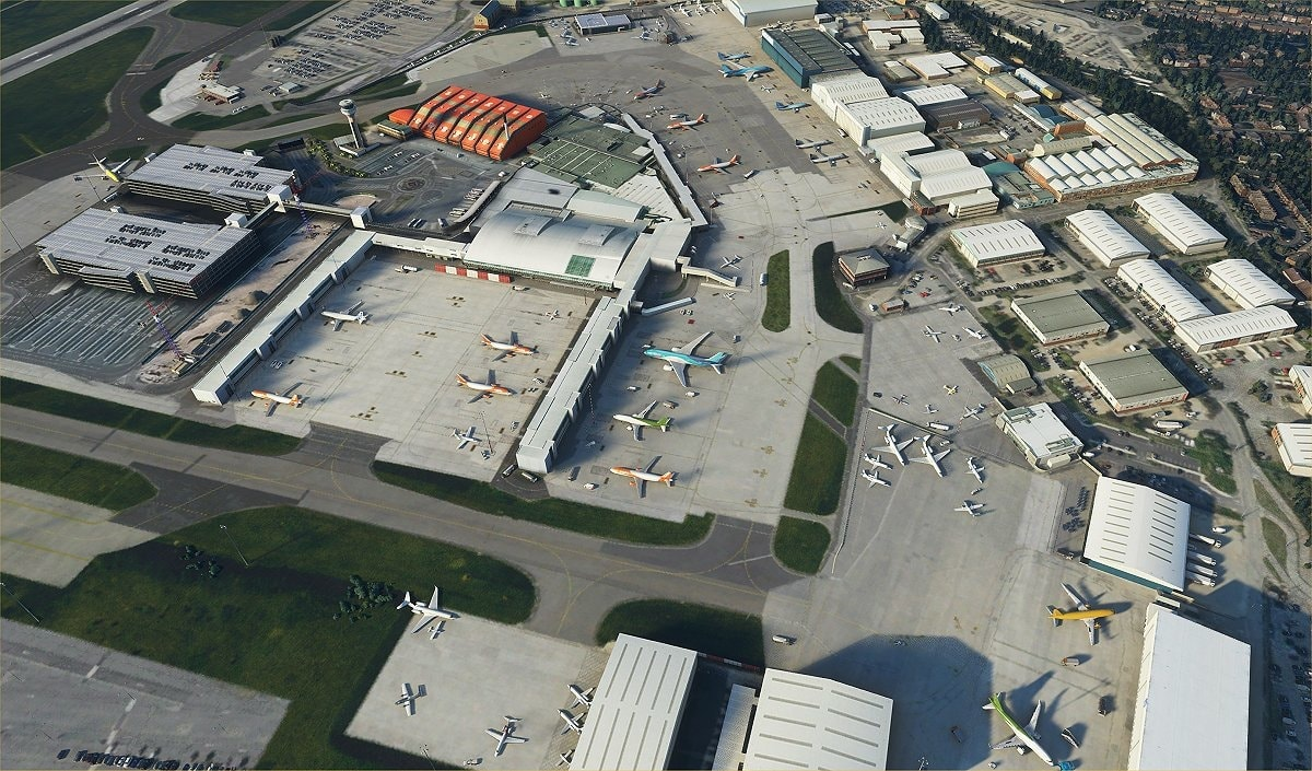 luton airport msfs 1