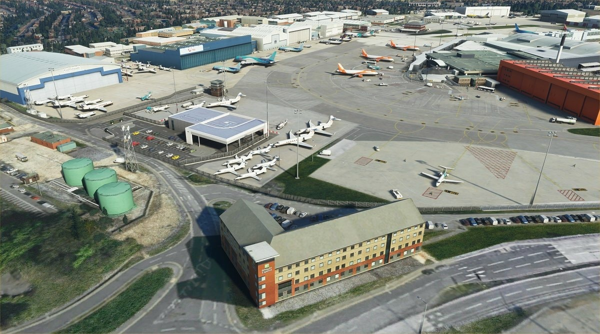 luton airport msfs 4