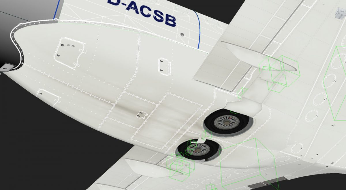 New images of Aerosoft's CRJ show incredible texture details made possible by MSFS