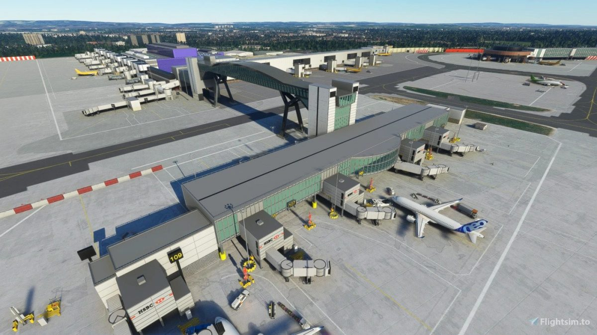 Land on a better Gatwick Airport (EGKK) in MSFS with this free airport addon