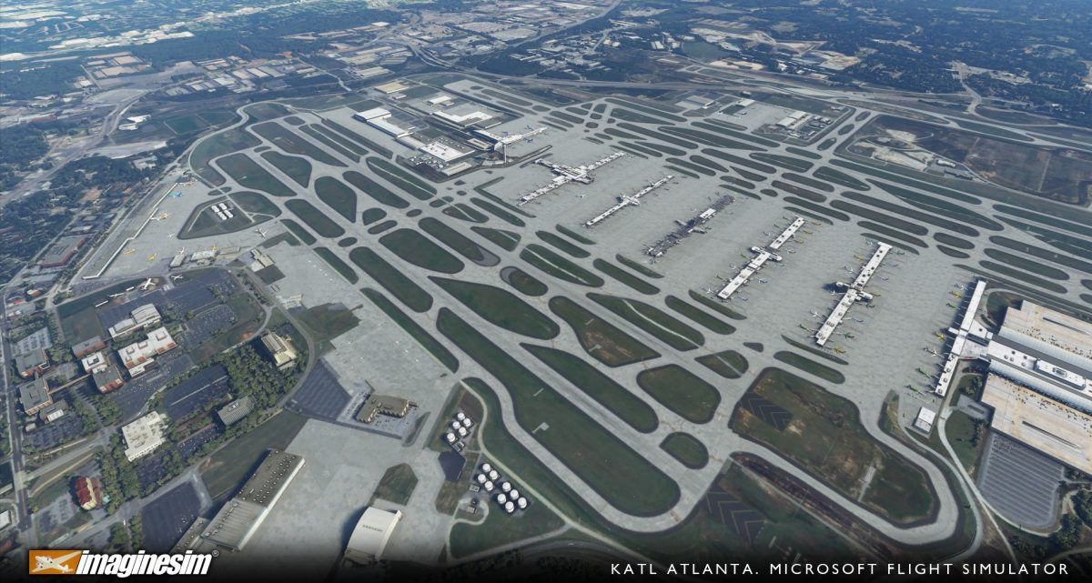 Imaginesim releases KATL Atlanta International Airport in the MSFS Marketplace