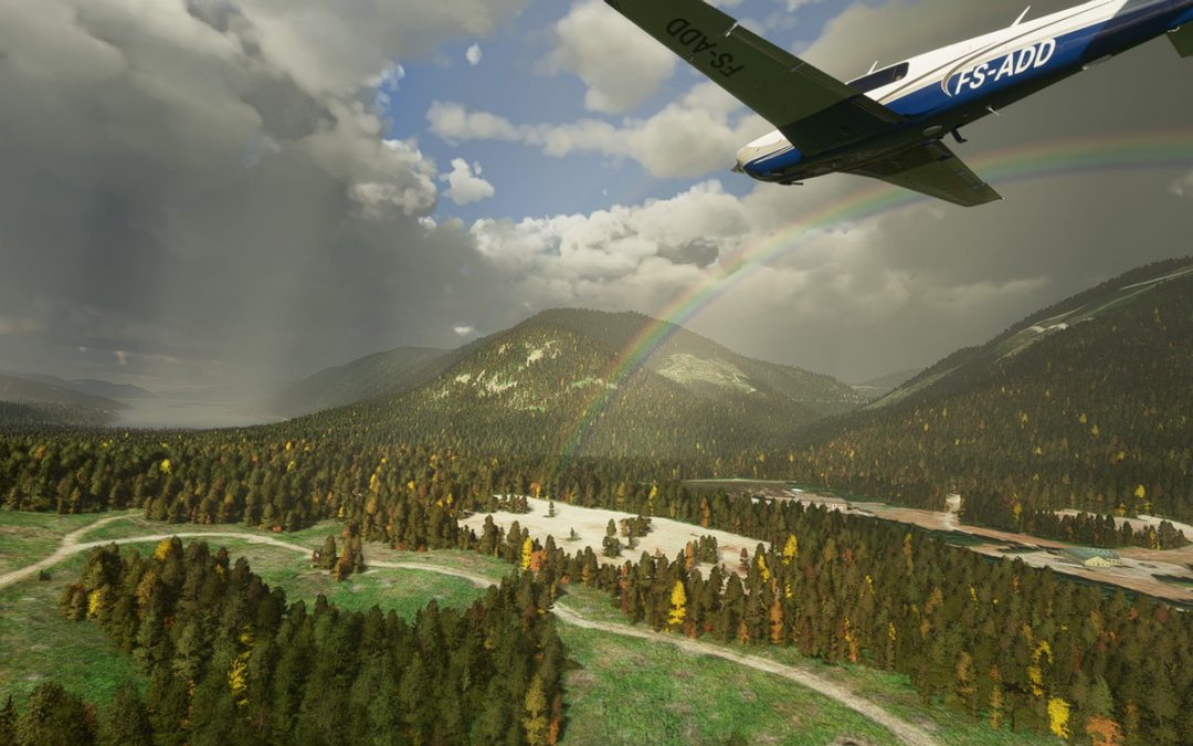 Fly in Fall Season with this mod for trees in MSFS