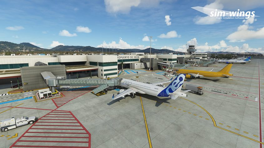 Sim-wings releases Ibiza airport for MSFS