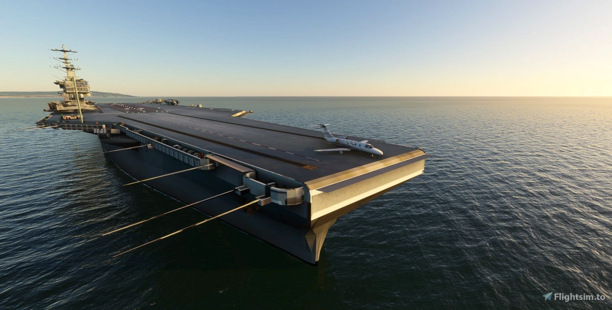 The aircraft carrier is back to Flight Simulator: USS MSFS – UK Moorings