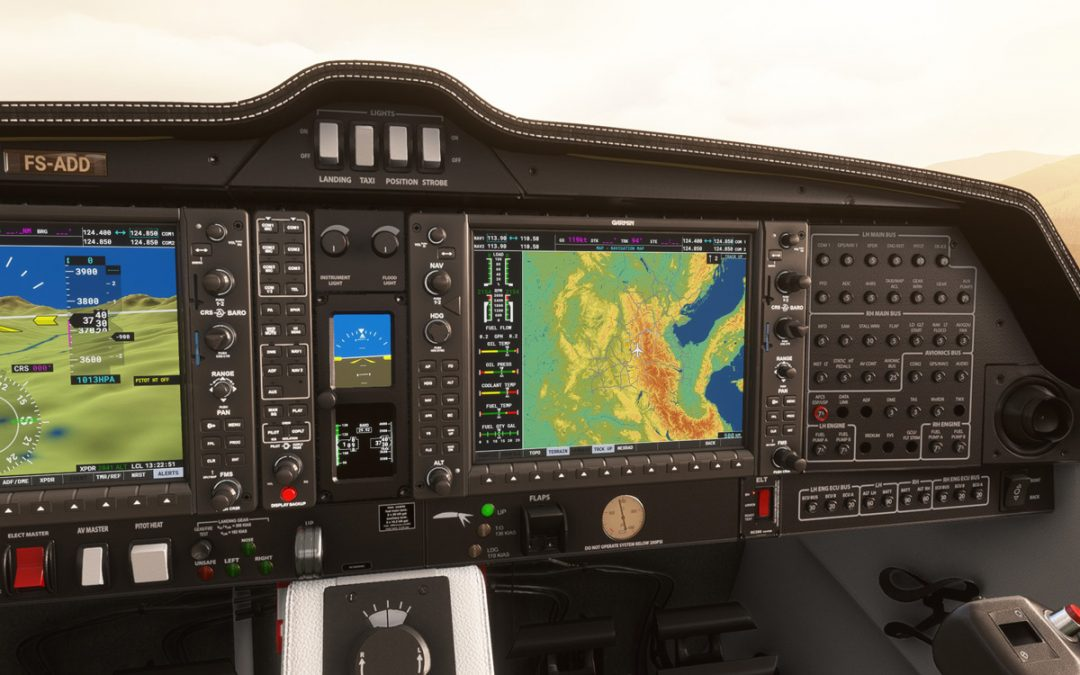 The Working Title G1000 mod greatly improves the glass cockpit in Flight Simulator