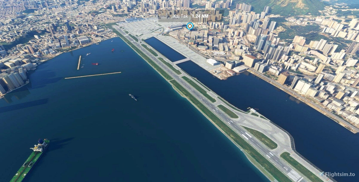 Hong Kong's Kai Tak Airport lives again in Flight Simulator with this free scenery addon