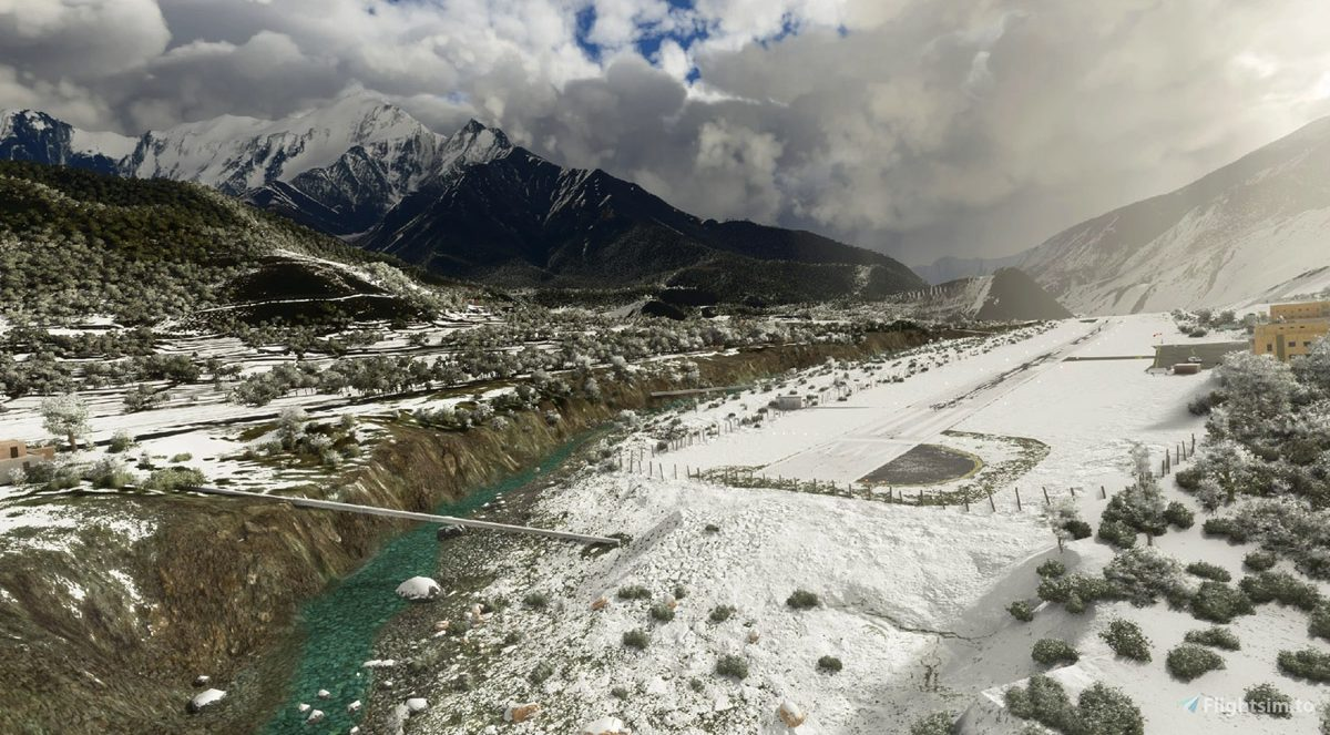 Jomsom Airport VNJS (Nepal) is another excellent freeware airport by Sergio Del Rosso
