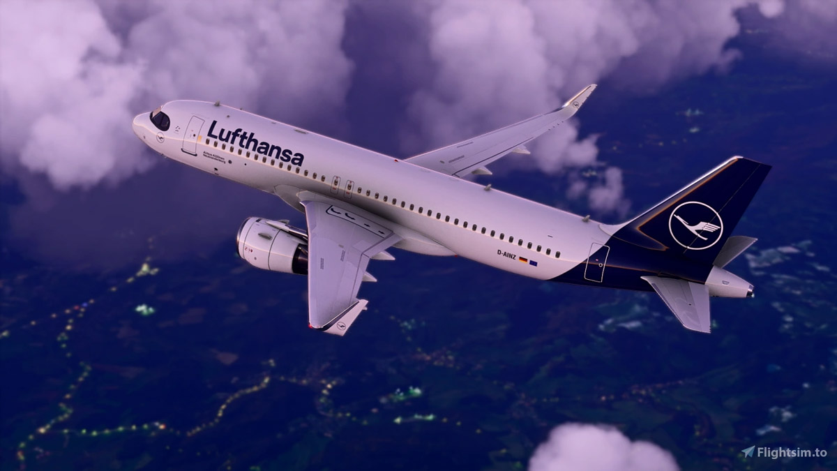 Get this Lufthansa livery in Ultra HD for some gorgeous A320neo screenshots