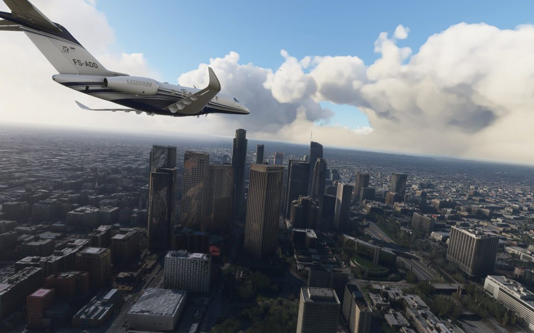 Go fly over Los Angeles with this striking downtown scenery mod