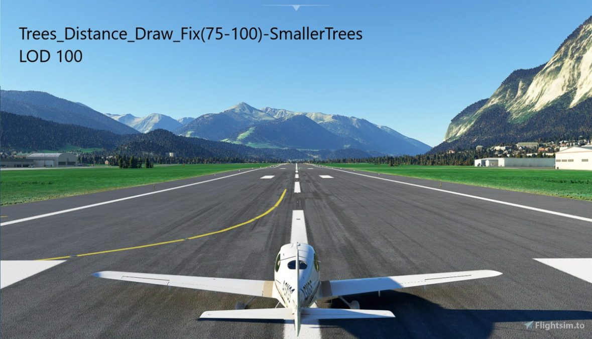 Improve long distance tree visibility with this free mod for MSFS