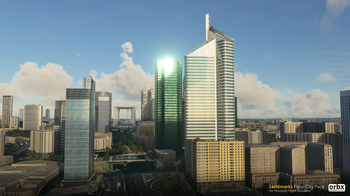 Orbx Paris Landmarks MSFS downtown