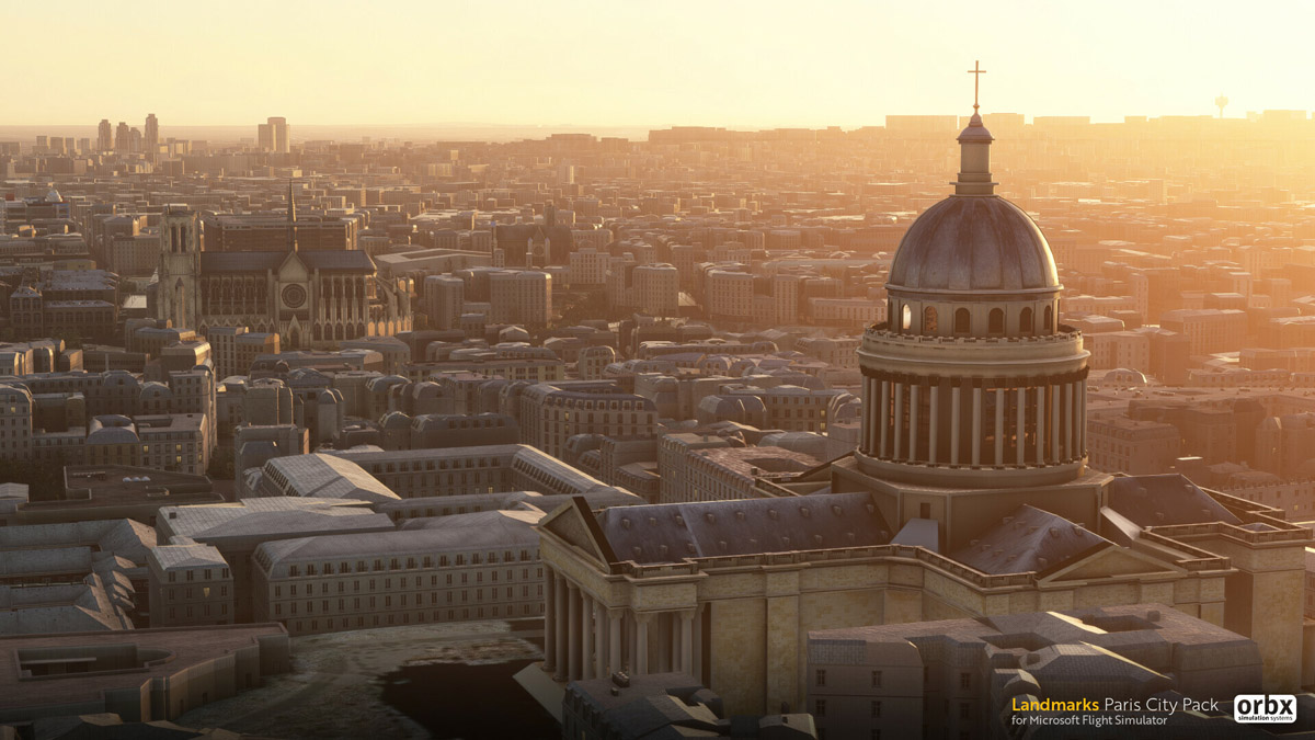 Orbx Paris Landmarks MSFS cathedral