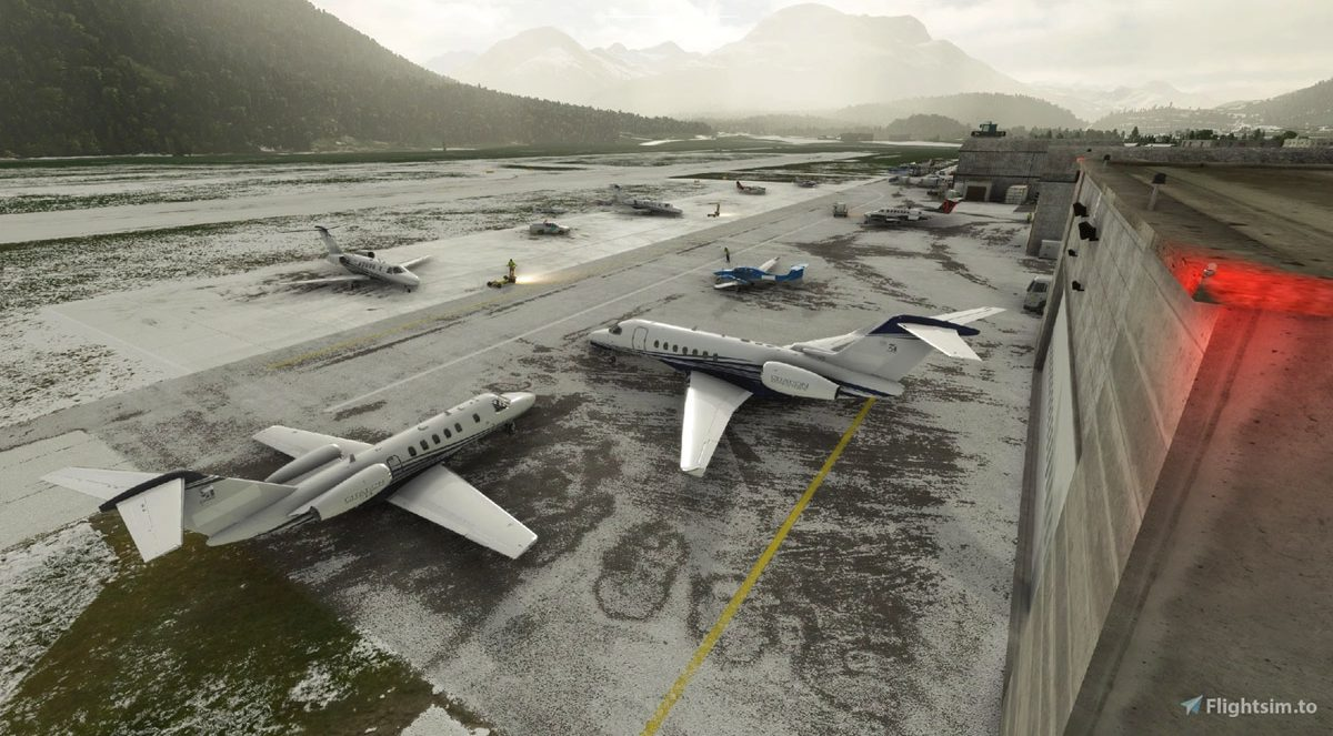 Samedan Airport (freeware) – fly to Saint Moritz on this cold, snowy winter