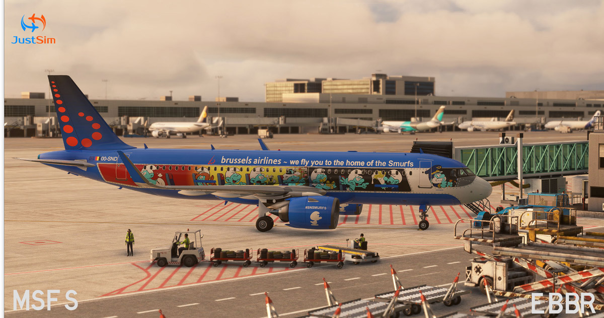 Brussels Airport for MSFS released by JustSim