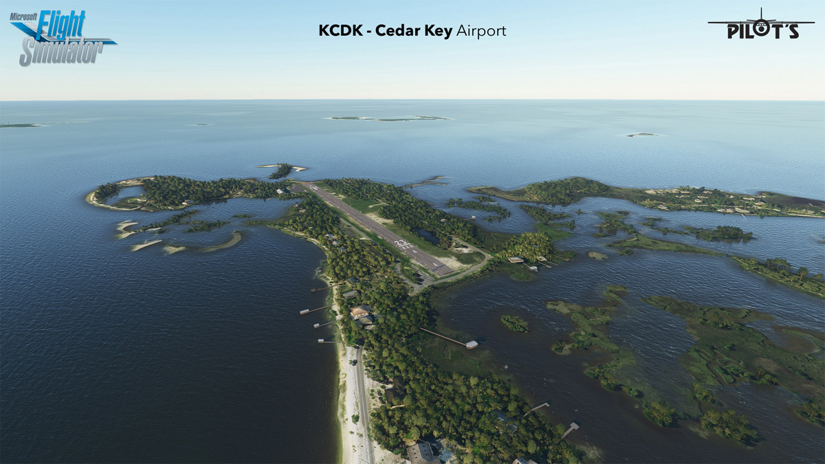 Cedar Key Airport is a very scenic and short airfield in Florida – out now for MSFS