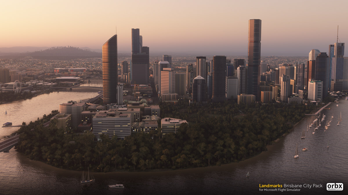 Orbx announces Landmark City Pack – Brisbane