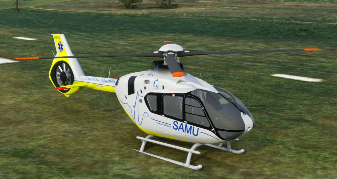The first helicopter for Flight Simulator is here: the freeware Airbus H135