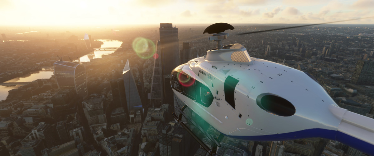 Airbus H135 helicopter MSFS Flight Simulator 10
