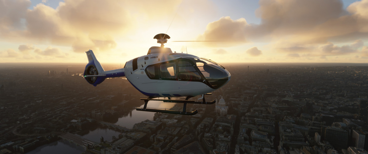 Airbus H135 helicopter MSFS Flight Simulator 12