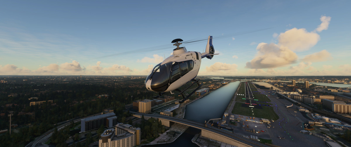 Airbus H135 helicopter MSFS Flight Simulator 3