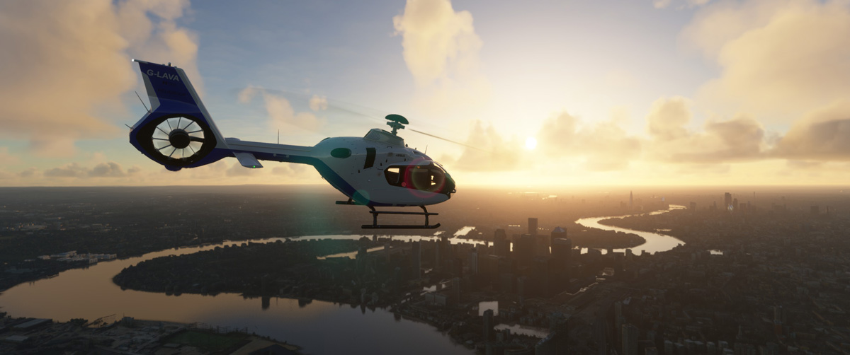 Airbus H135 helicopter MSFS Flight Simulator 4