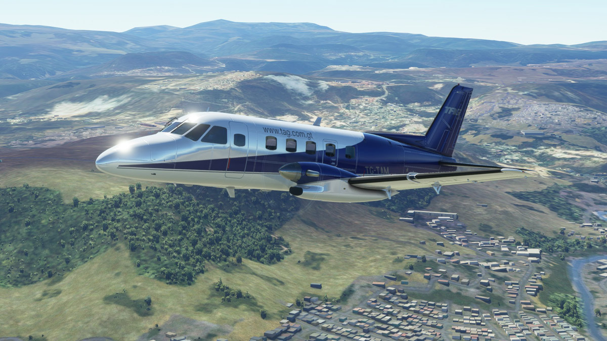 The Embraer EMB 110 Bandeirante is now available for MSFS