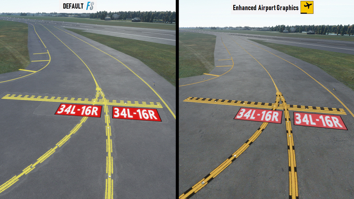 Enhanced airport textures MSFS 4
