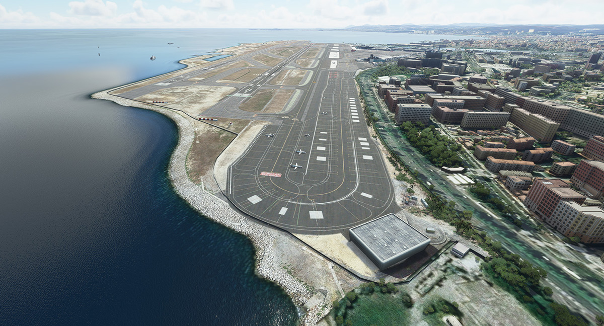 JustSim releases Nice Côte d'Azur Airport for MSFS