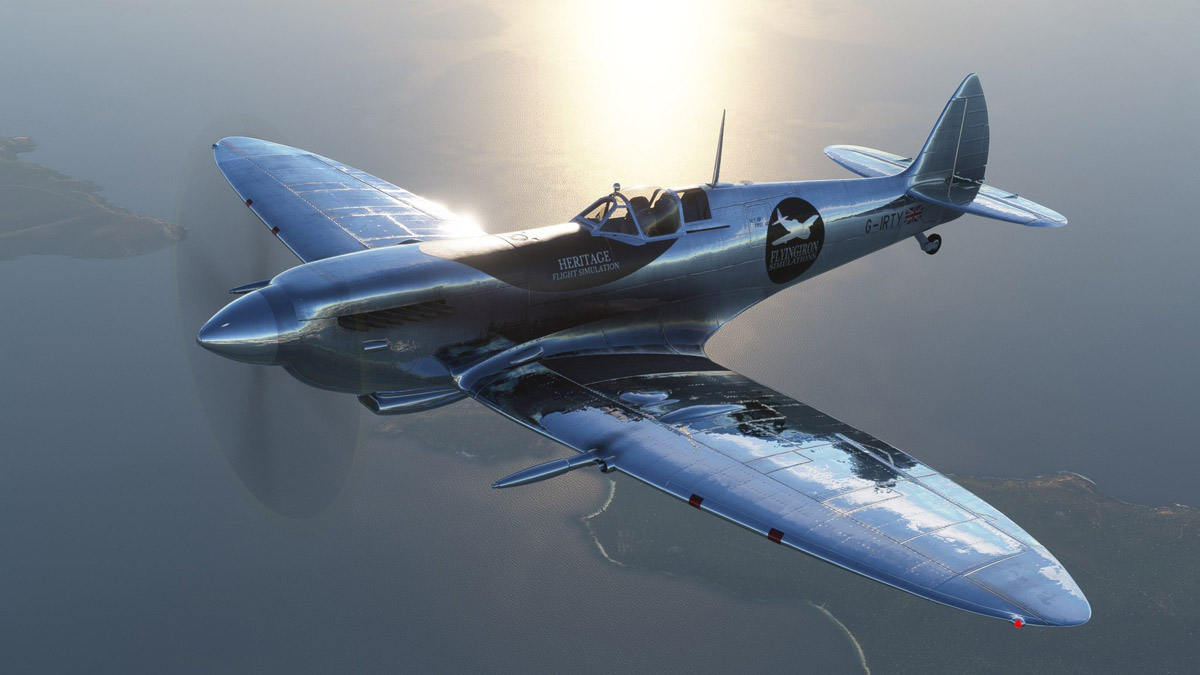 The Spitfire from FlyingIron Simulations is now available for Flight Simulator