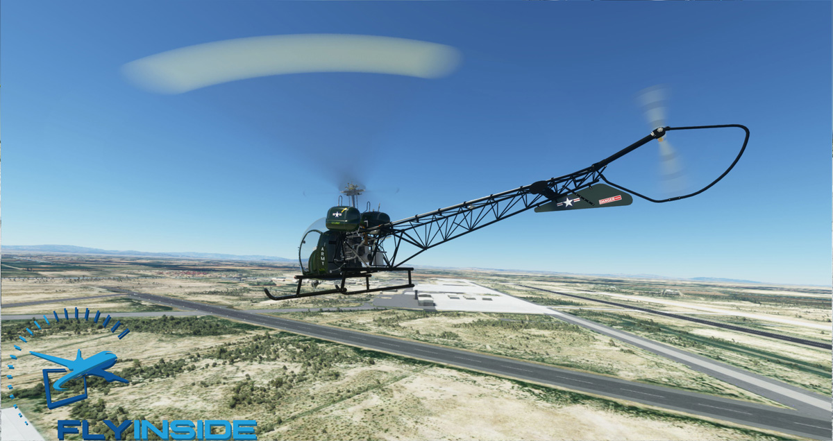 Bell 47G helicopter MSFS 3