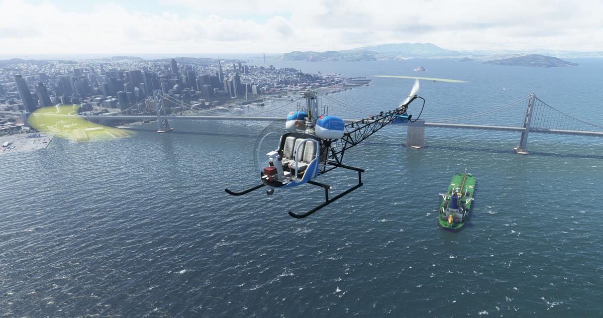 The Bell 47-G2 helicopter from FlyInside is now available for MSFS