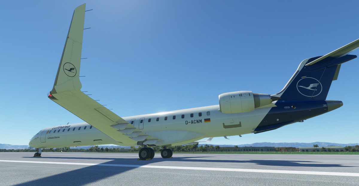 Here are the first images of the CRJ 900/1000, from Aerosoft