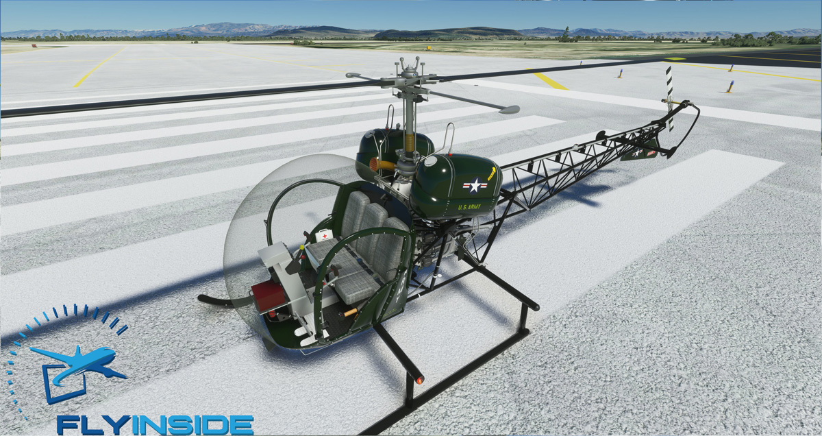 Another helicopter is coming to MSFS: FlyInside's Bell 47G is almost finished!