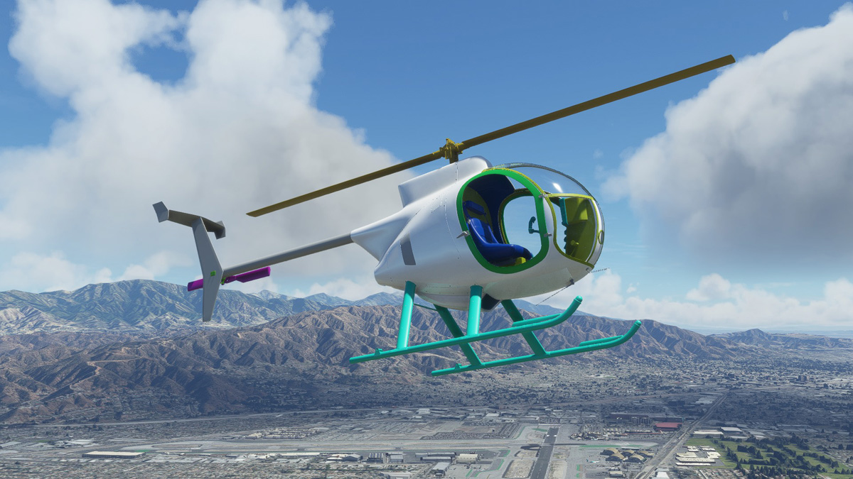 Indiafoxtecho testing helicopter model for MSFS
