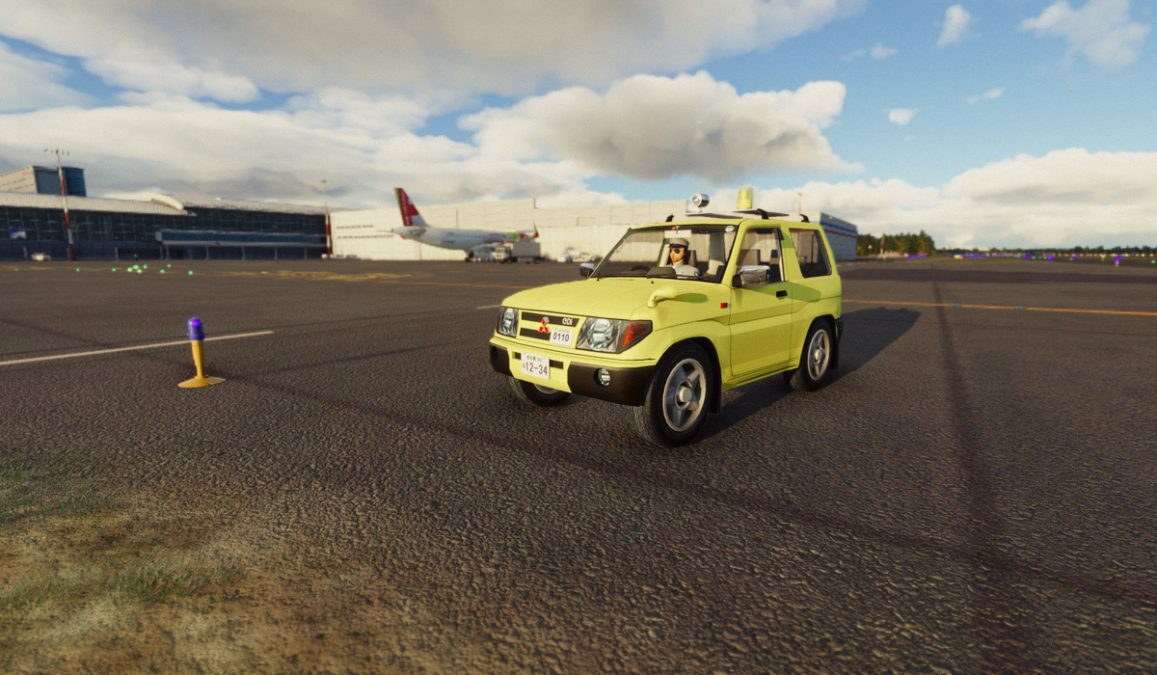 A drivable car in Flight Simulator? Yes… and it's a Mitsubishi Pajero!