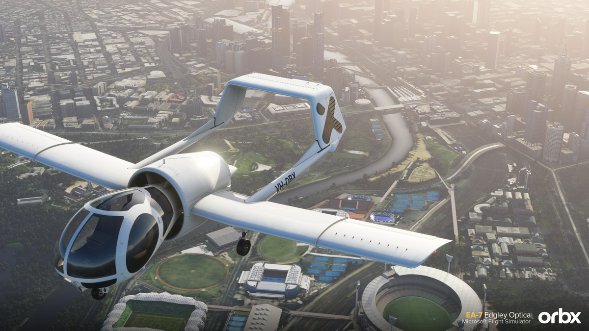 Orbx reveals its first aircraft for MSFS: the Edgley Optica