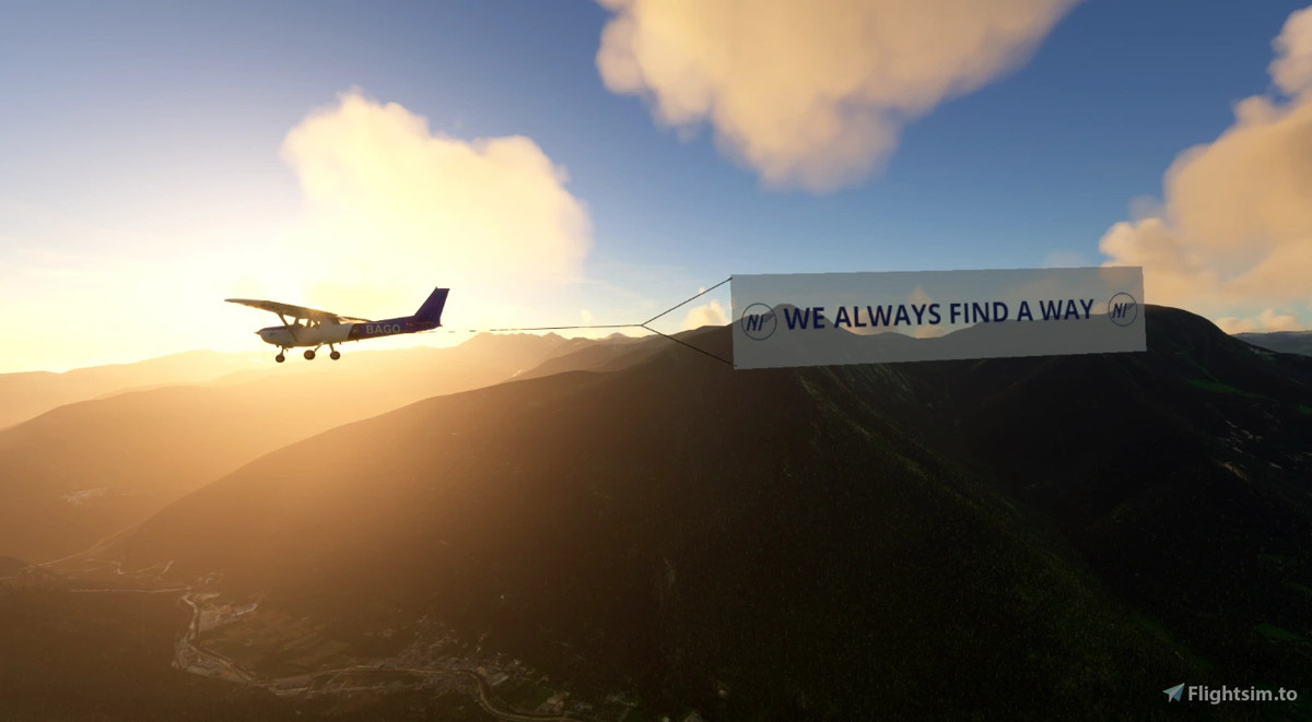 You can now tow advertising banners in Flight Simulator with your Cessna 152