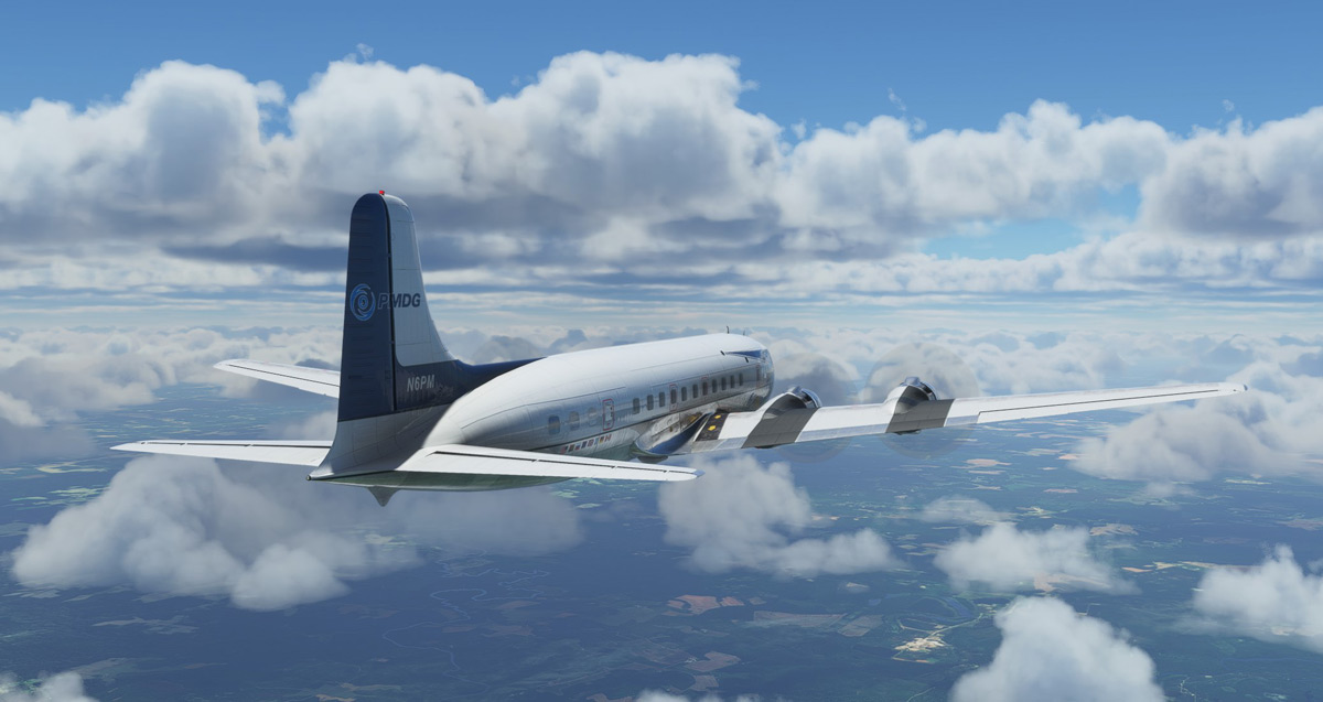 The PMDG DC-6 for Flight Simulator really exists, is now a Facebook cover
