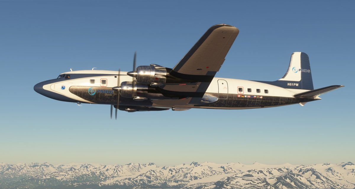 Are these the first images of PMDG's DC-6 in Flight Simulator?